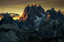 Peaks on Fire - The Dolomites in Italy