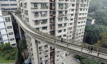 Pedestrian overpass in Chongqing China  cross post from rchina