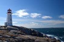 Peggys Cove Lighthouse  Nova Scotia Canada