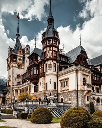 Pele Castle - Built between  and  according to the specifications of Carol I Romanias first King the castle is a blend of Gothic Revival and Neo-Renaissance in the Carpathian Mountains
