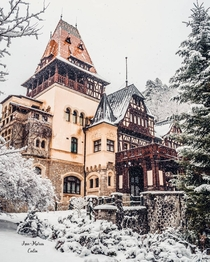 Pelior Castle a Renaissance Revival and Eclectic style castle completed in  Sinaia Prahova County Romania Currently owned by the former Romanian Royal Family