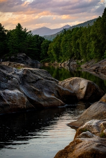 Pemigawasset River Mt Lincoln and Mt Lafayette White Mountains NH