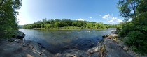 Pemigewasset River just outside Bristol NH Panoramic  x