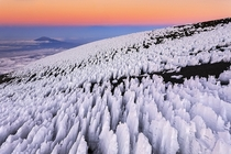 Penitents Ice formations on the summit of Mount Kilimanjaro Tanzania  Photo by Bene Santos