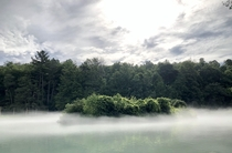 Penns Creek Pennsylvania Took this while on a boat trip through an underground cavern That fog