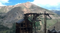 Pennsylvania mine shaft headframe near Argentine Pass Colorado