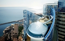 Penthouse in Monaco with a water slide from dance floor to pool Alexandre Giraldi