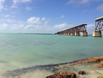 Perfect aqua bluegreen colors of the Florida Keys