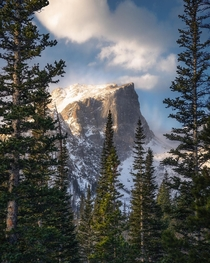 Perfect Framing for Hallett Peak - Rocky Mountain National Park Colorado