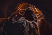 Perfect lighting inside Antelope Canyon Arizona