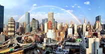 Perfect Rainbow over Manhattan I took from my apartment