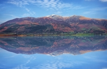 Perfect reflection on the lake England  by Calebever