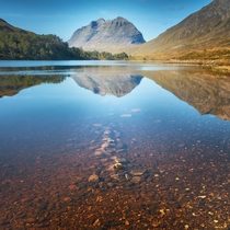PERFECT reflections on Loch Clair Glen Torridon Highlands Scotland
