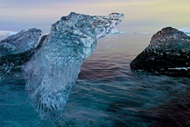 Perfectly clear glacial Ice Antarctica
