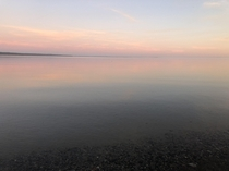 Perfectly still water on Lake Superior  on iPhone