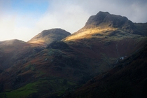 Perhaps some of the most recognisable peaks in the Lake District Great Langdale Cumbria England