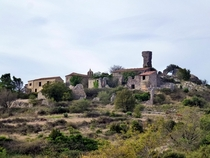 Perillos a ghost village in Pyrnes-Orientales France