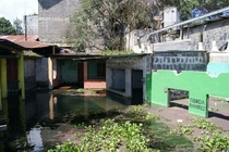 Permanently Submerged Storefronts Lake Atitilan Guatemala  x