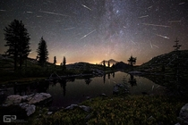 Perseid Meteor Shower Composite