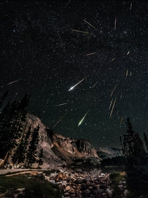 Perseid Meteor Shower Snowy Range Wyoming  x