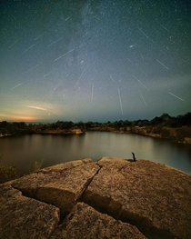 Perseids last night from a quarry outside Boston