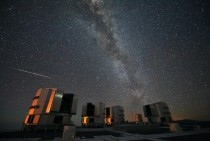 Perseids over the Very Large Telescope