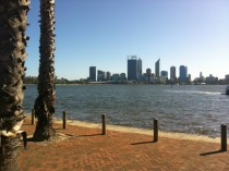 Perth Western Australia from across the river to the south