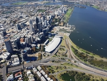 Perth Western Australia - New Stadium amp Elizabeth Quay Pictured