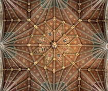 Peterborough Cathedral Central Tower Ceiling England