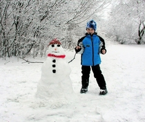 Petey and the Snowman Ganges Michigan