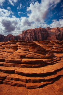 Petrified sand dunes in Snow Canyon State Park - St George Utah