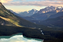Peyto Lake and the valleys of Banff National Park  Photographed by Mark Stevens
