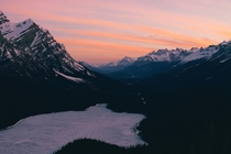 Peyto Lake at sunrise Banff National Park Alberta Canada  x