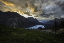 Peyto Lake Banff National Park Alberta Canada All fired up at sunset  x