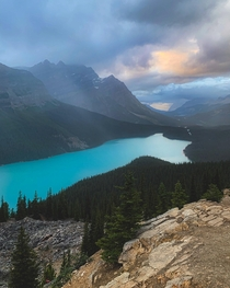 Peyto Lake before the Storm Banff AB  IG grantplace