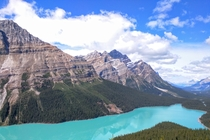 Peyto Lake in Alberta Canada  OC