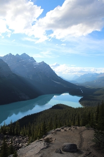 Peyto Lake in the Early Evening - Banff National Park Alberta Canada