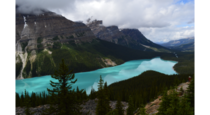 Peyto Lake mountain and lake view
