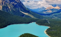 Peyto Lake Overlook Banff National Park