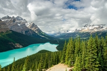 Peyto Lake Overlook Banff National Park Canada