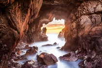 Pfeiffer State Beach CA - One of the more precarious places Ive had my camera set up  x