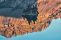 Phantom Ship Island inside of Crater Lake Too spooky