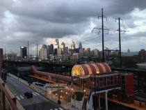 Philadelphia and University City Station from UPenn Parking Garage