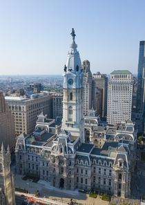 Philadelphia City Hall - designed by John McArthur Jr amp Thomas Ustick Walter amp built between - Worlds largest freestanding masony building Tallest building in world from -