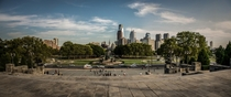 Philadelphia Panorama from the Rocky Steps this fall