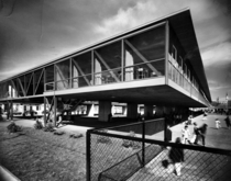 Phillis Wheatley Elementary School by Charles Colbert in New Orleans A beautiful example of Mid Century Modern design it was unfortunately torn down in