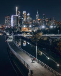 Philly at night Credit to utherealmindzeye