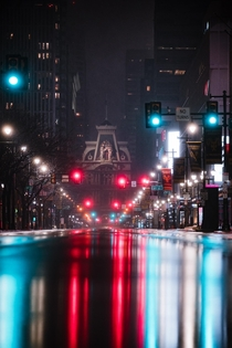 Philly in the rain