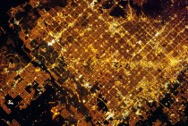 Phoenix Arizona Metropolitan Area at Night