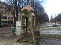 Phone booth in Gvle Sweden